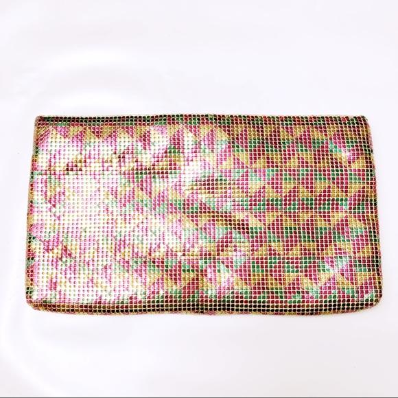 Whiting & Davis Handbags - Whiting & Davis Vintage 80s Mesh Clutch